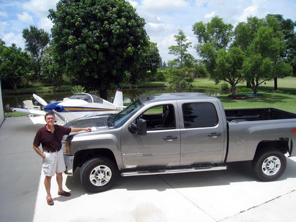 Jon Moore and his Duramax diesel